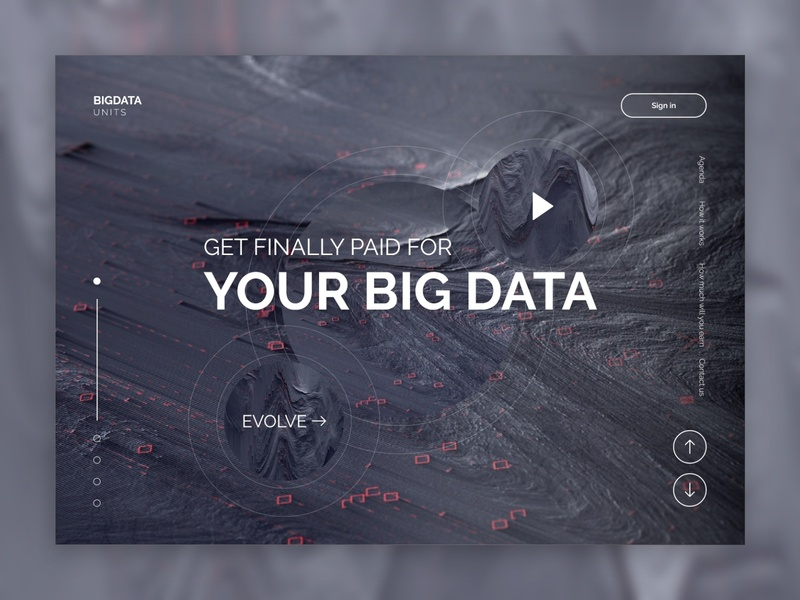 The browser extension for big data of users design minimal website web ui