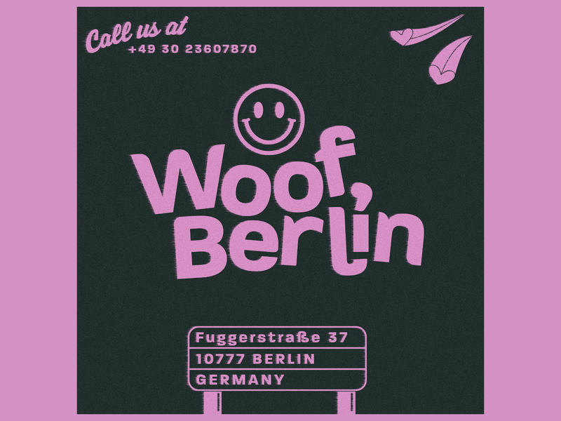 Woof Berlin Rebrand poster minimal vector logo illustrator illustration flat art branding design