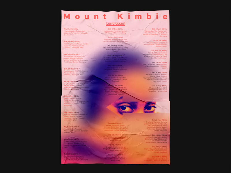 Mount Kimbie Tour Poster daily poster poster design event flyer vector poster minimal photoshop illustrator design