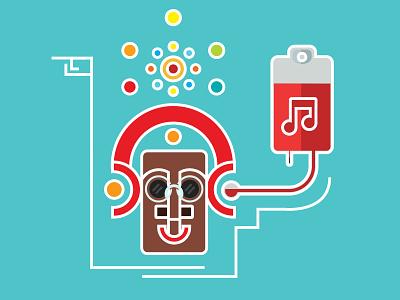 Go Juice vector faces vector african faces