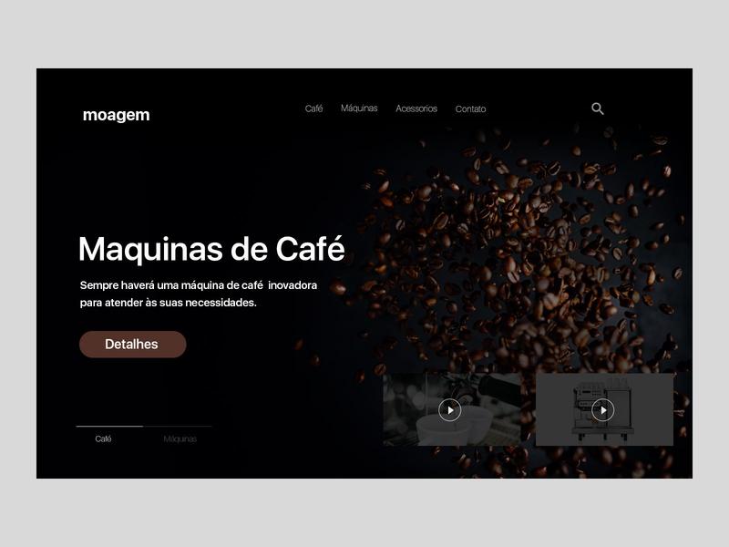 Café - Coffee branding user interface design design