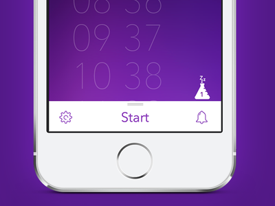 Pillow for iOS sleep app ios iphone flat minimal custom design sleep monitoring sleep tracking