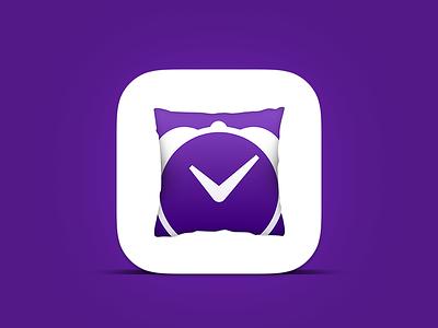 Pillow Final Icon icon ios ios7 ios8 purple sleep pillow nap white application iphone sleep tracking
