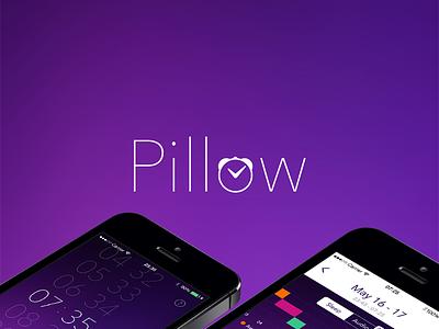 Pillow for iOS - Logo logo brand identity app ios sleep pillow purple sleep tracking sleep quality flat