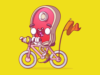 Don't play with your food cool branding dribbble vector uiux color flat fun character brazil thunder rockets