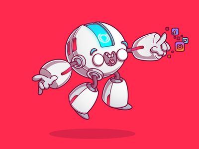 Visão Net Bot CRCLR.080 cool vector color design character sao paulo brazil campinas thunder rockets illustration