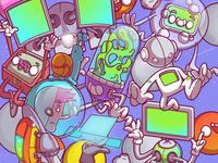 Expanded universe. 🪐☄️🌎✨🤖 Illustration we made for @frestafil