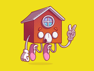 Stay in home fun cool dribbble color vector flat character brazil sao paulo thunder rockets