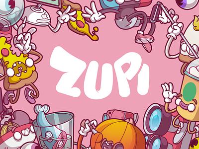The amazing process - Zupi illustration cool vector design fun flat color character brazil sao paulo thunder rockets