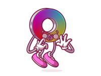 Magic color wheel ui design ui vector cool character fun flat color illustration brazil sao paulo thunder rockets