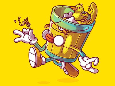 Vectober day 015 - Yellow 🍺 cool color flat vector fun character illustration brazil sao paulo thunder rockets