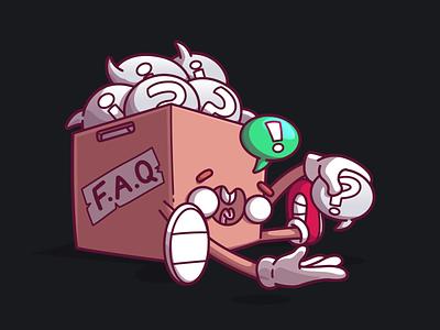 FAQ flat vector ux fun character ui illustration brazil sao paulo thunder rockets