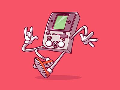 Game Boy, boy ? ux vector ui logo design color fun character illustration brazil sao paulo thunder rockets