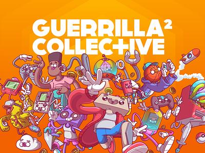 Guerrilla Collective ux vector ui logo fun color design character illustration brazil sao paulo thunder rockets