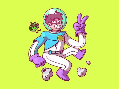 Stoned Astros design color ui character fun sao paulo brazil illustration thunder rockets