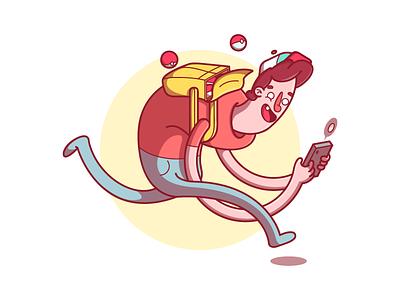 Go! Catch all them! illustration flat matheus christovam matheusland pokemon go go pokémon