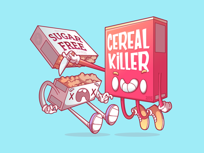 Cereal Killer killer character ui sao paulo campinas brazil illustration food thunder rockets