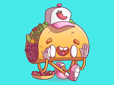 Taco taco mexico food ilustração illustration são paulo brazil brasil campinas thunder rockets