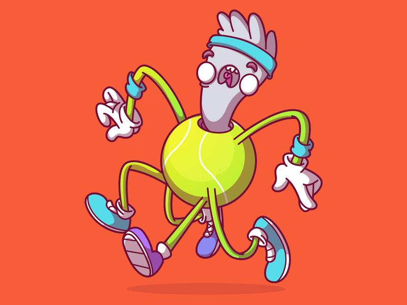 Vectober Day15 - Tênis tenis vectober dribbble color ui character design fun brazil campinas thunder rockets illustration sao paulo