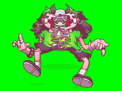 The Bad Guy billie eilish flat color design character fun brazil sao paulo campinas thunder rockets illustration