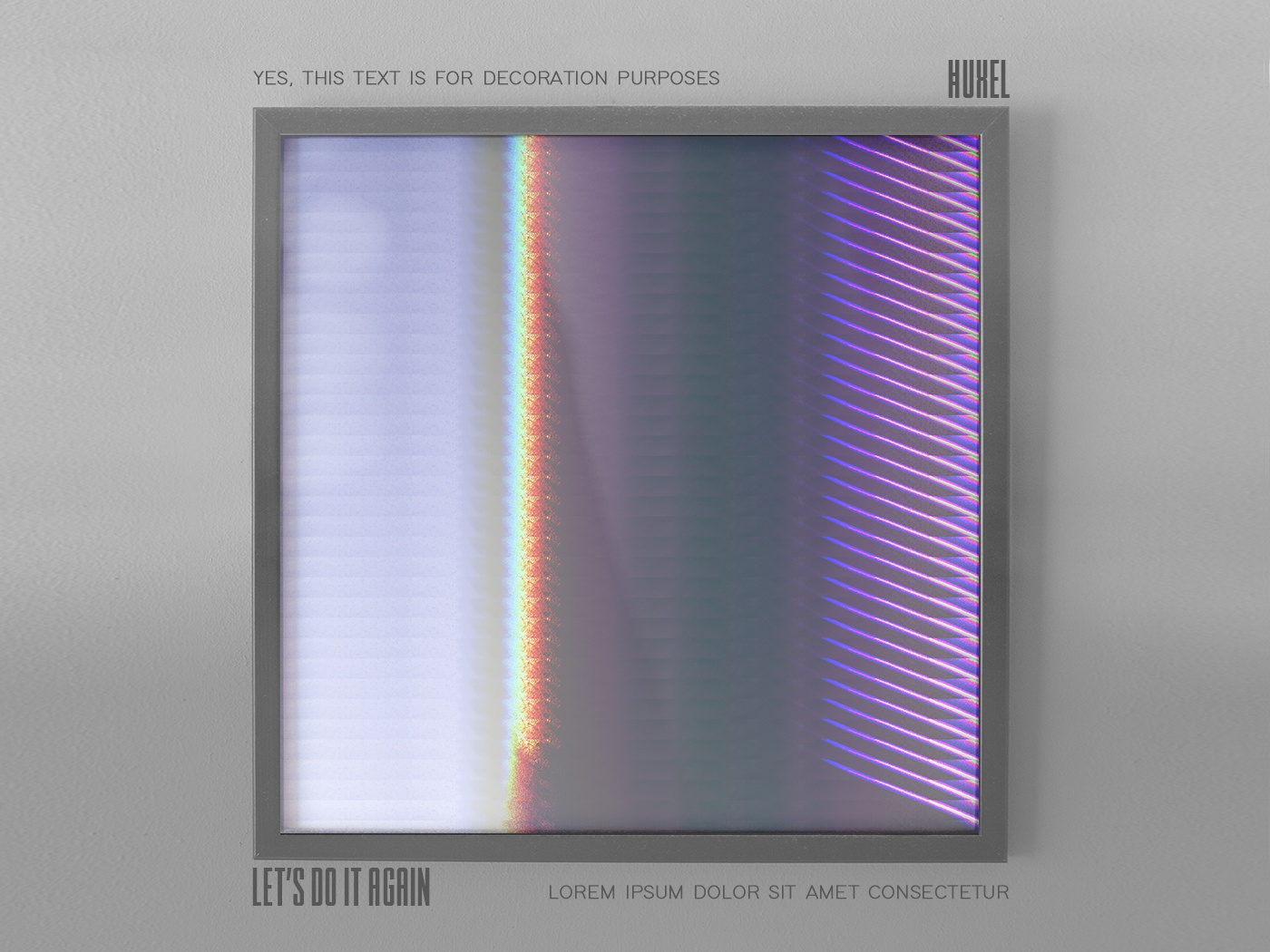 Let's Do It Again glitchart psychedelic trippy futuristic framed aesthetic glitch abstract illustration artwork huxelart huxel