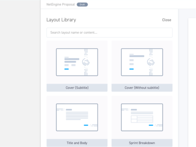 Apollo - Layout Library #1 proposal illustration web layout library