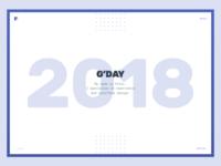 2018 Portfolio - Homepage