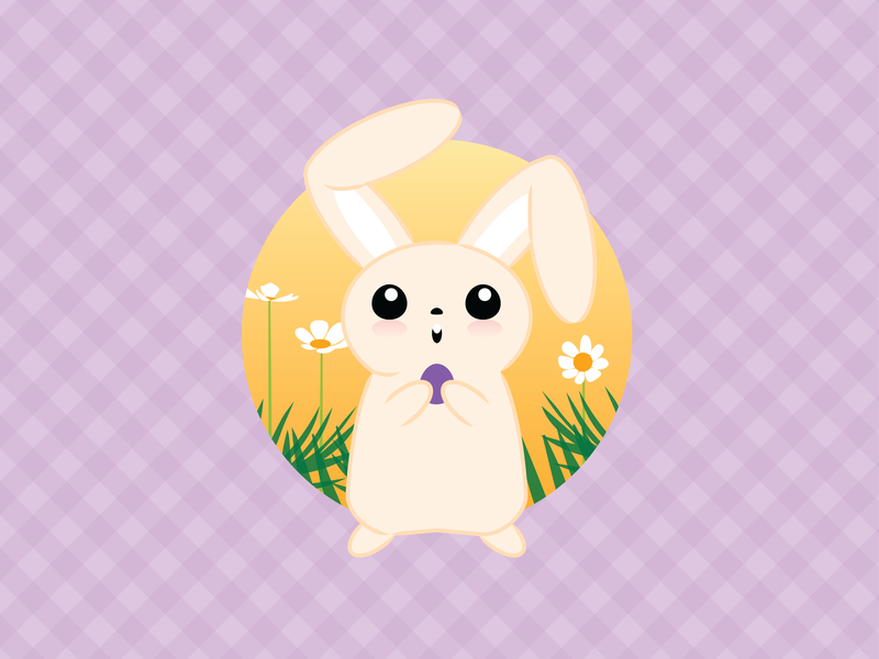 Easter Vibes vector illustration