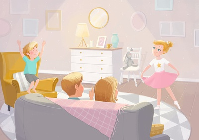 ballerina. childrens book illustration