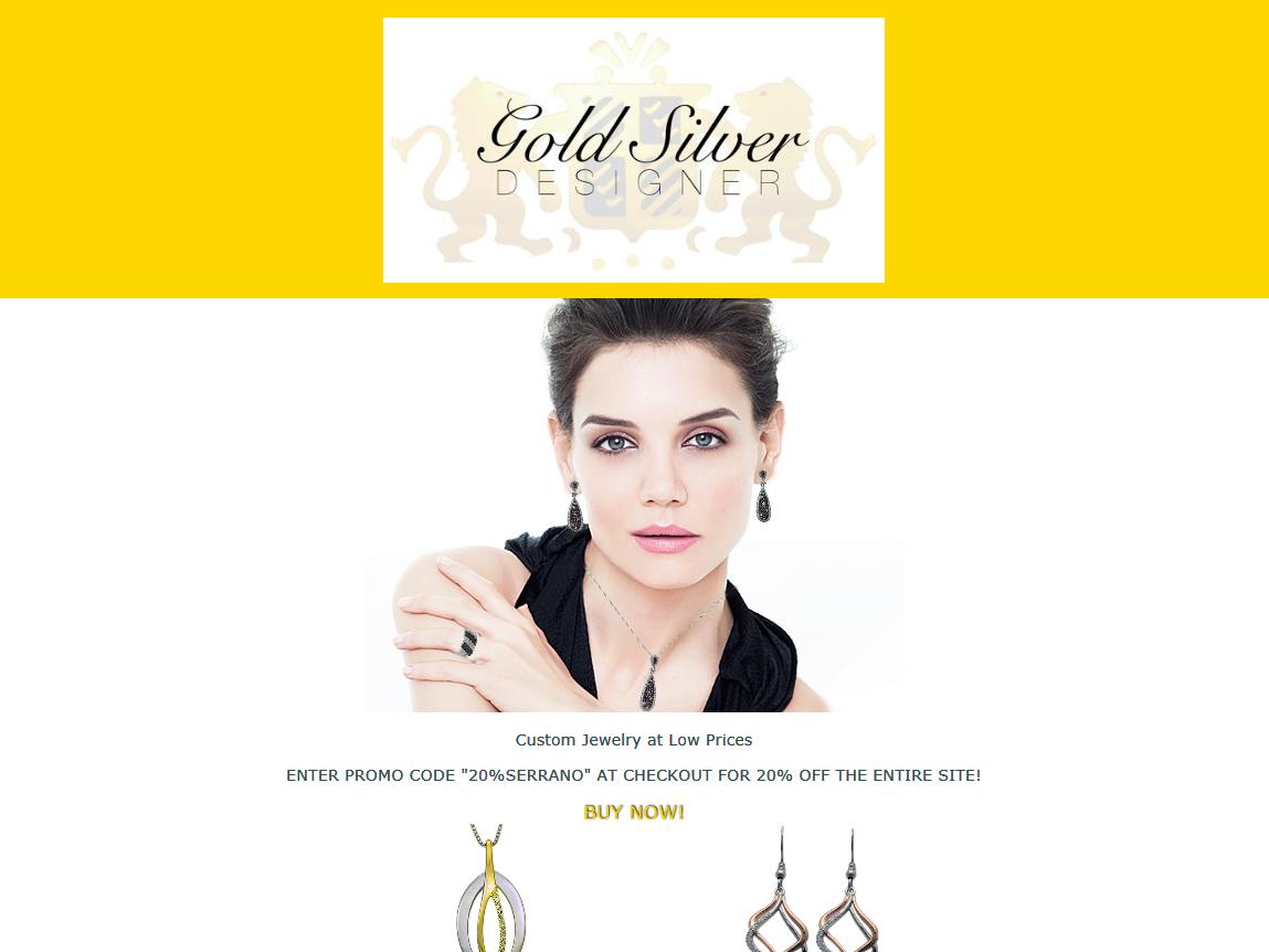Gold and Silver Designer html advertisement ad campaign marketing campaign web design logo