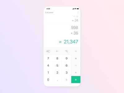 Calculator - Daily UI 004 mobile maths daily ui 004 daily ui calculate