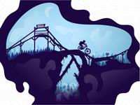 MTB bike park illustration