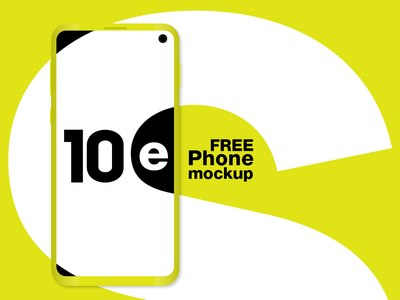 Galaxy S10e FREE phone mockup great flagship latest 2019 galaxy-s10 camera e 10 design elegant minimal clean black white yellow samsung mockup vector phone galaxy