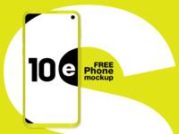 Galaxy S10e FREE phone mockup