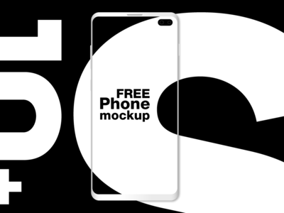 Galaxy S10+ FREE phone mockup