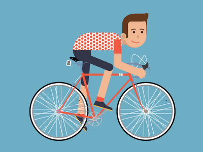 I will animate it...one day hipster illustration insurance vector riding fixed minime colnago bike