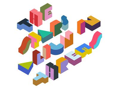 Tipografía e isometría. lettering type isometric isometric illustration isometric art typography design colors vector illustration