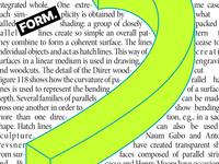 Form branding design vector illustration editorial art typography