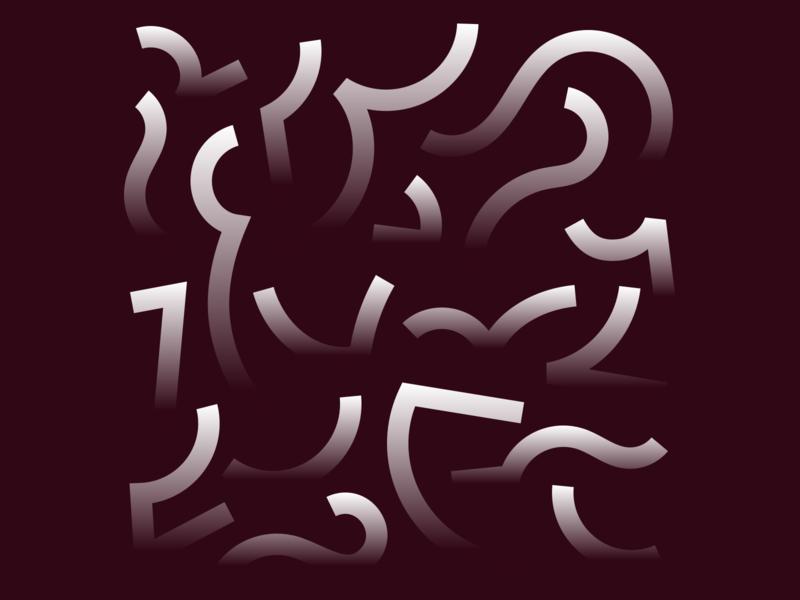 Composition gradients lines design illustration vector