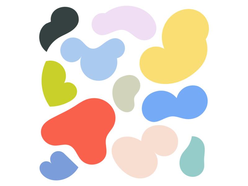 Shapes & colors design colors illustration vector