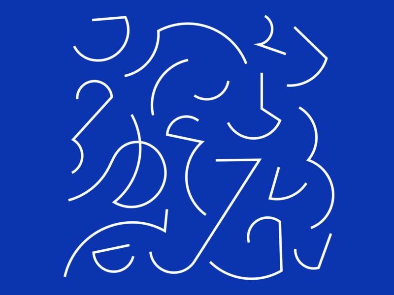 Lines blue lines design illustration vector