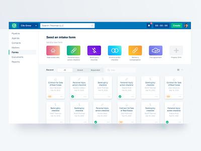 Concept Intake Form Screen web icon clean app vector flat typography art design ui