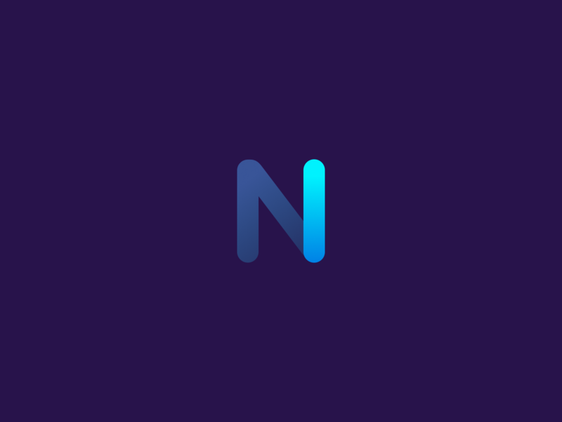 Nova: product design system app blue vector logo flat typography branding art illustration design