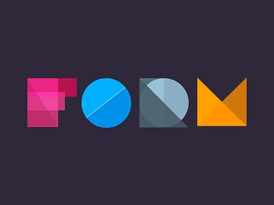 Form: Lettering clean blue art web flat branding icon design logo illustration lettering typography