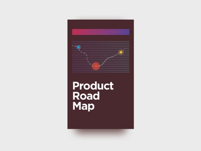 Product Road Map coffee hustle ux branding vector flat illustrator illustration app map road roadmap