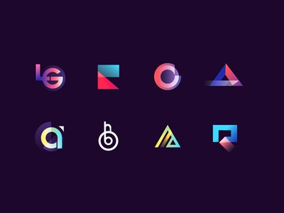 🎱 days of work type mark logo letter illustrations identity icon branding app
