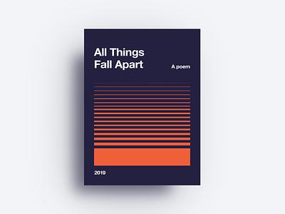 All Things Fall Apart illustrator identity red logo app lettering web minimal website icon type blue illustration clean vector flat branding art design typogaphy