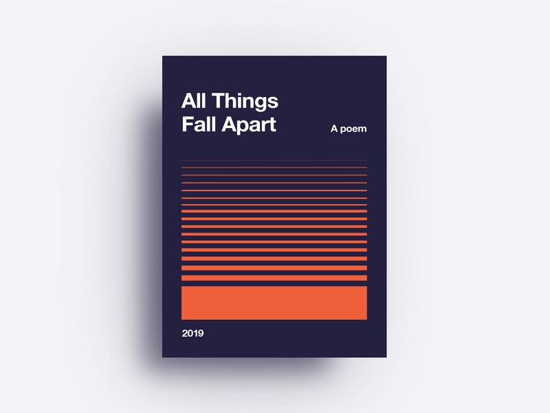 All Things Fall Apart illustrator identity red logo app lettering web minimal website icon type blue illustration clean vector flat branding art design typogaphy