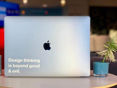 🤔Design thinking is beyond good & evil design art branding typography logo app vector clean type lettering minimal