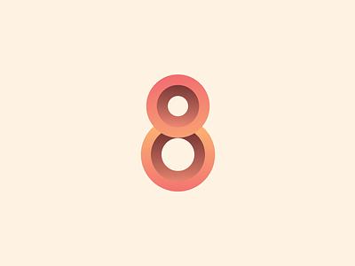 An 8 🎱 identity minimal web ui lettering type clean vector app illustration typography branding art design